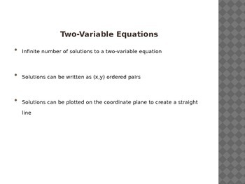Graphing Linear Equations with Tables