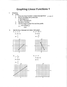 Graphing Linear Functions 1