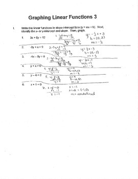 Algebra: Graphing Linear Functions 3