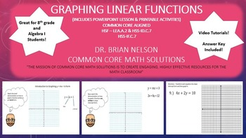 Graphing Linear Functions - PowerPoint Lesson & Printables!