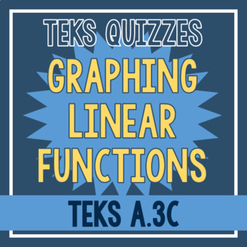 Graphing Linear Functions Quiz (TEKS A.3C)
