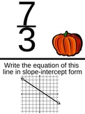 Graphing Linear Functions Review Scavenger Hunt - Winter Theme