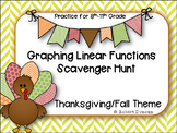 Graphing Linear Functions - Scavenger Hunt - Thanksgiving Theme