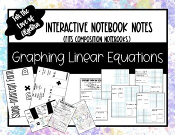 Graphing Linear Functions from an Equation notes (GSE Algebra 1)
