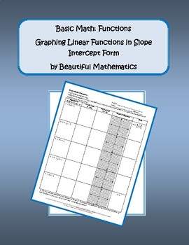 Graphing Linear Functions in Slope Intercept Form