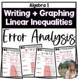 Graphing Linear Inequalities (Error Analysis Task)