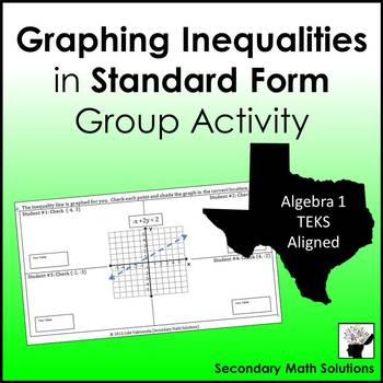Graphing Inequalities in Standard Form Group Activity (A3D)