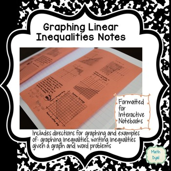 Graphing Linear Inequalities Interactive Notes