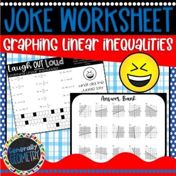 Graphing Linear Inequalities Joke Worksheet, Algebra 1