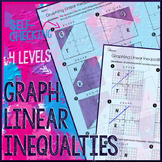 Graphing Linear Inequalities Multi-level Practice