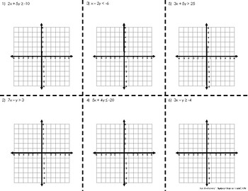 Graphing Linear Inequalities NOTES (GSE Algebra 1)