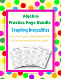 Graphing Linear Inequalities and Inequalities from a Graph Practice Bundle
