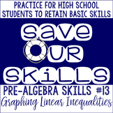 Graphing Linear Inequalities SOS (Save Our Skills)