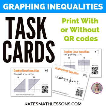 Graphing Linear Inequalities Task Cards