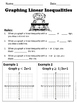 Linear Inequalities No Prep Lesson
