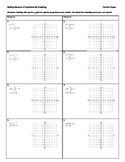 Graphing Linear Systems Partner Paper