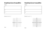 Graphing Linear inequalities NOTES for INB