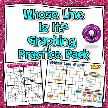 Graphing Lines Activity in Slope Intercept Form Activity Pack