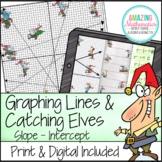 Graphing Slope Intercept Form Lines - Christmas Math Activity - PDF & Digital