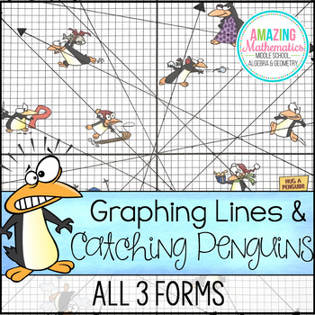 Graphing Lines & Penguins ~ All 3 Forms
