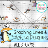 Christmas Algebra Activity Graphing Lines & Penguins ~ All 3 Forms