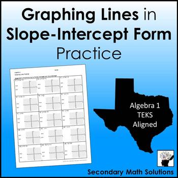 Graphing Lines in Slope-Intercept Form Practice