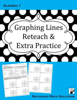 Graphing Lines Reteach and Extra Practice