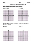 Graphing Lines Slope-Intercept Form Homework