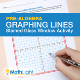 Graphing Lines Stained Glass Window Activity (Pre-Algebra)