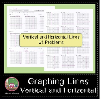 Graphing Lines: Vertical and Horizontal