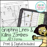 Graphing Lines & Zombies ~ Graphing in All 3 Forms of Linear Equations Activity