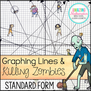 Graphing Lines Zombies Standard Form By Amazing Mathematics Tpt