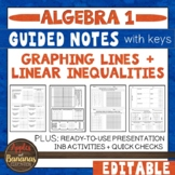 Graphing Lines and Linear Inequalities - Guided Notes and INB Activities