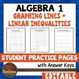 Graphing Lines and Linear Inequalities - Editable Student