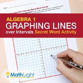 Graphing Lines over Intervals Secret Word Activity (Algebra 1)