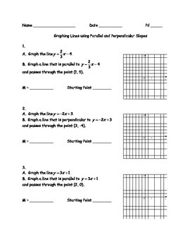 Graphing Lines using Parallel and Perpendicular Slopes