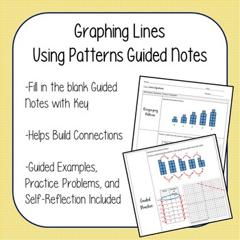 Graphing Lines with Patterns Guided Notes