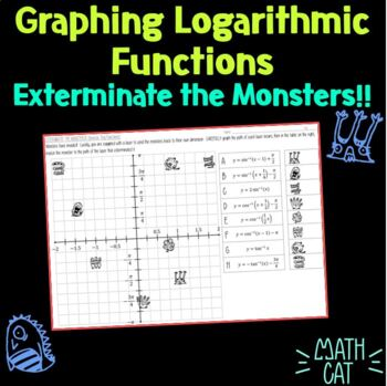 Graphing Logarithmic Functions- Exterminate the Monsters!