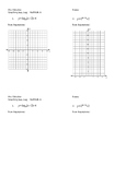 Graphing Logs, Exp EXIT TICKET (goes along with guided not