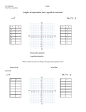 Graphing Logs, Exp Guided Notes