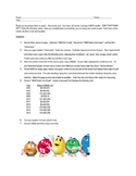 Graphing M&Ms Worksheet