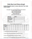 Graphing: Make a Tally Chart and Picture Graph (Pictograph