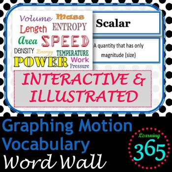 Graphing Motion Vocabulary Interactive Word Wall