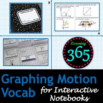 Graphing Motion Vocabulary Unit Bundle