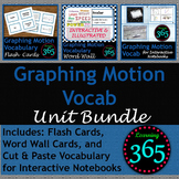Graphing Motion Vocabulary Unit Bundle