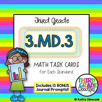 Math Task Cards -- Third Grade Graphing