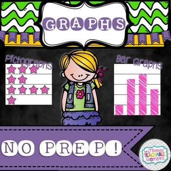 NO PREP! Graphing - Bar Graphs and Pictographs