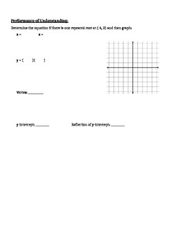Graphing Non-Factorable Quadratics in Standard Form - Notes
