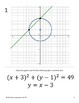 Graphing Nonlinear Systems of Equations~Linear~Circles~ Walk Around Activity