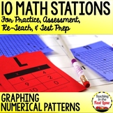 Graphing Numerical Patterns Test Prep Math Stations